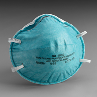 3M 1860 Particulate Respirator/Surgical Mask-Cone Headband-120/Case