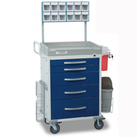 Detecto Loaded Rescue Anesthesiology Carts-Blue