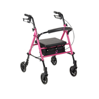 Drive RTL10261BC Breast Cancer Awareness Adjustable Rollator-Pink