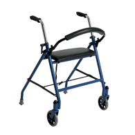 Drive Medical Two Wheeled Walker with Seat