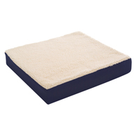 "Essential Medical D4100 Gel Cushion with Fleece Cover-18""x16""x3"""