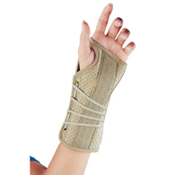FLA Orthopedics 22-150 Soft Fit Suede Finish Wrist Braces-Right