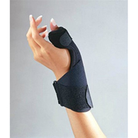 FLA Orthopedics 25-170002 C3 Deluxe Thumb Splint Right/Left-BLK