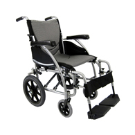 Karman S-Ergo 115 Transport Wheelchair w/ Wire Break & Swing Footrest