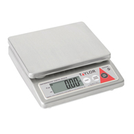 Taylor TE10CSW Water Resistant Compact Scale-10 lb/5000 g Capacity